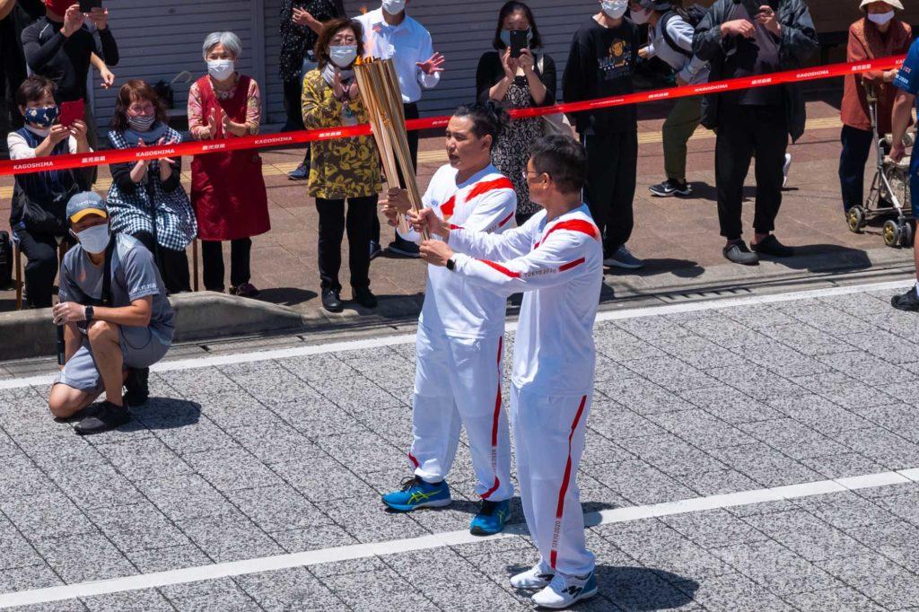 オリンピック聖火リレー 奄美大島なぜまち商店街 5